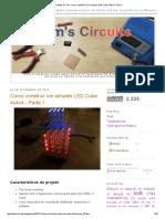Projetos de Tom_ Como Construir Um Simples LED Cube 4x4x4 - Parte 1
