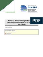 5.1.2 MOD2 Imprimes Supervision de Chantier