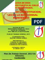 Diapositivaa Plan General Iglesia 2017
