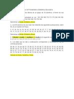 Problemas Para Resolver de Probabilidad y Estadística Descriptiva