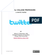 Twitter for College Professors
