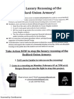 Stop the Luxury Rezoning of the Bedford-Union Armory!