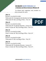 M08V44 - Cronograma de Estudos Da Oitava Semana