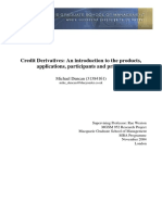 Credit Derivatives an Introduction to the Products
