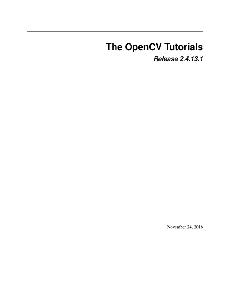 opencv_tutorials pdf | Library (Computing) | Eclipse (Software)