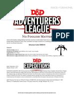 DDEX 3-06 No Foolish Matter