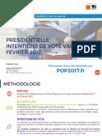 Intentions de Vote - Vague 9 - POP2017 - 4 Février 2017