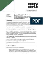 2015 Chorister Job Description - Updated