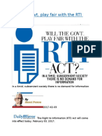Will the Govt. play fair with the RTI Act.docx