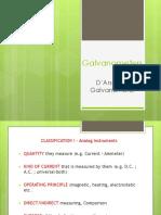 MI - Galvanometers - D'Arsonval Galvanometer