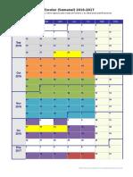 Calendario Escolar 2016 2017 en Blanco Grande
