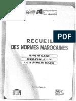 Recueil Des Normes Marocaines Betons, Granulats, Etc
