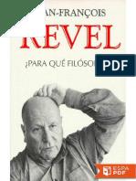 _Para Que Filosofos_ - Jean-Francois Revel