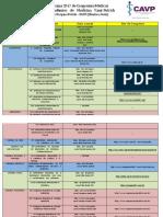 Cronograma 2017 de Congressos Médicos