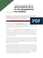 Plazo Prescripcion Otorgameinto Escritura Publica IX PLENO CASATORIO CIVIL