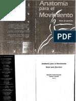 Anatomia Para El Movimiento Tomo 2 Bases de Ejercicios