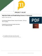 High-End Coffee in Guatemala
