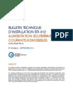 BTI-012 Alimentation Souterraine C2010