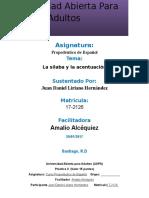 Unidad II Propedeutico de Español Juan Daniel Liriano H