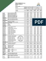 Lista de Precio 2016