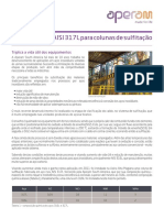 Aço Inoxidável AISI 317L Para Colunas de Sulfitação