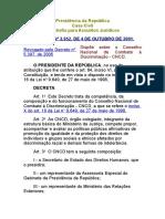 Decreto 3952 de 2001
