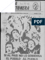 Evita Montonera 16, marzo 1977