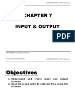 TCS2044 Chapter7 Input & Output Week13