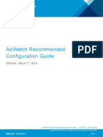 AirWatch Recommended Configuration Guide