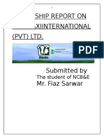 Internship Report on 1 1
