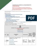 OC Civil Schedule