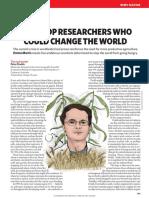 5 crop researchers