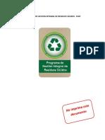 2.Plan de Gestion Integral de Residuos Solidos PGIRS