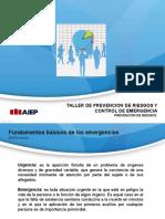 1º Presentacion de Taller de Prevencion de Riesgos y Control de Emergencias