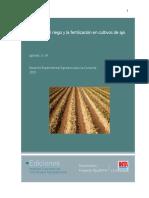 Riego y Fertilizacion de Ajo