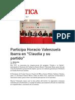03-02-2017 Participa Horacio Valenzuela Ibarra en Claudia y Su Partido
