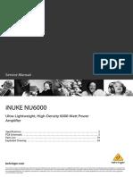 NU3000 NU6000 Service Manual