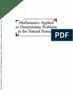 Lin Segel applied mathematics
