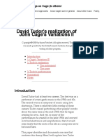 David Tudor's Realization of John Cage's Variations II