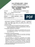 Informe Pedagogico Pch 2016-4ºb