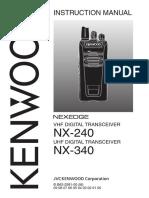 Manual Radio Kenwood nexedge_nx240