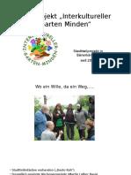 """Das Projekt """"Interkultureller Garten Minden"""