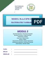 Modul 3 Add Maths 2016