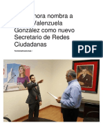 02-02-2017 Pri Sonora Nombra a Arturo Valenzuela Gonzalez Como Nuevo Secretario de Redes Ciudadanas