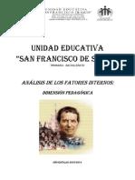 Analisis de Los Factores Internos - Dimensión Pedagógica