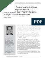 Dev. Custom Appl for SAP EP