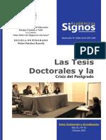 Las Tesis Doctorales y La Crisis Del Postgrado