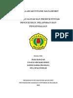 makalah Biaya Kualitas Dan Produktivitas