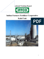 Training Report of IFFCO KALOL_Daxit Akbari