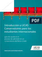 Introduction to Ucas Conservatoires Spanish 2016